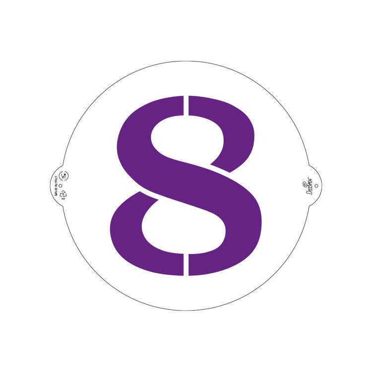 Schablon 8:a 25 cm