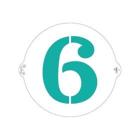 Schablon 6:a/9:a 25 cm