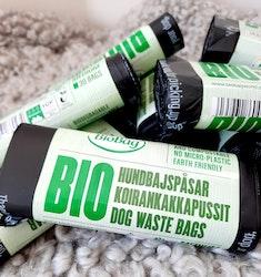 BioBag komposterbara och biologiskt nedbrytbara hundbajspåsar