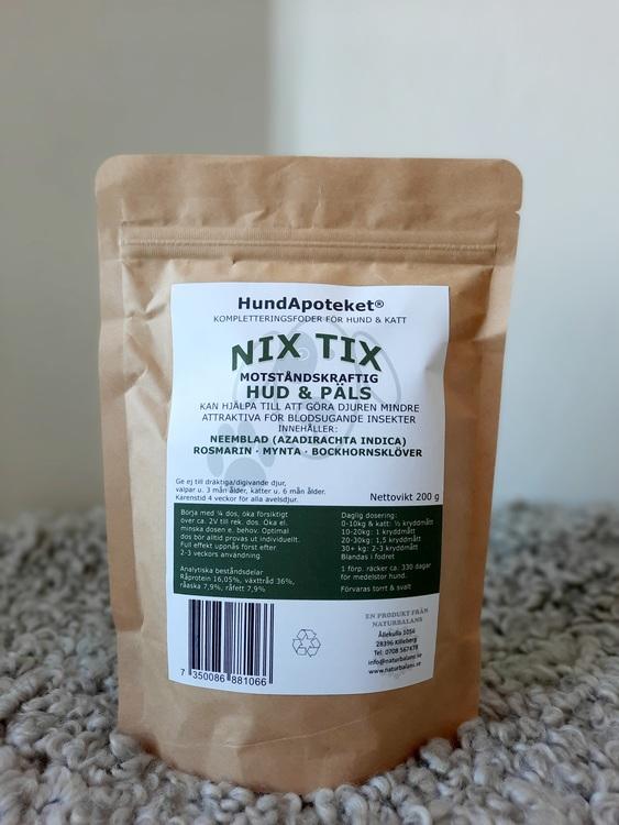 Hundapoteket närproducerat kosttillskott till hund NIX TIX 200g