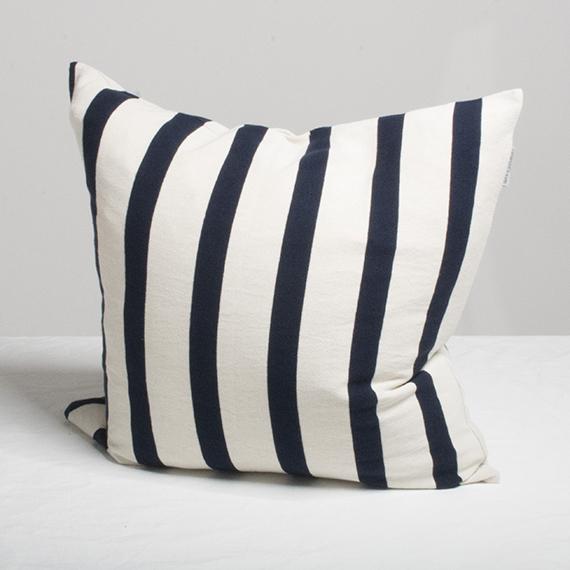 Marbäck - Pillowcase - Navy Stripe - 50x50 cm