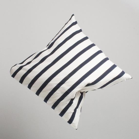 Marbäck - Pillowcase - Navy Stripe 65x65 cm