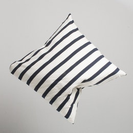 Marbäck - Pillow case - Navy stripe 65x65cm