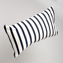 Marbäck – Pillow case - Navy stripe - 50x90cm