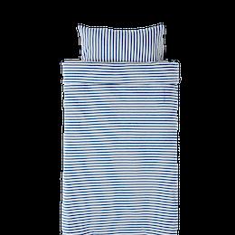 Marbäck - Påslakan 100x130 - Marin rand