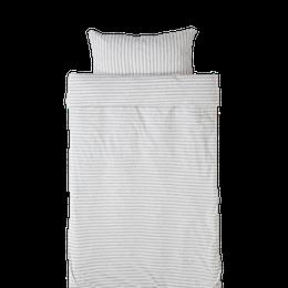 Marbäck - Påslakan 100x130 - Ljusgrå rand