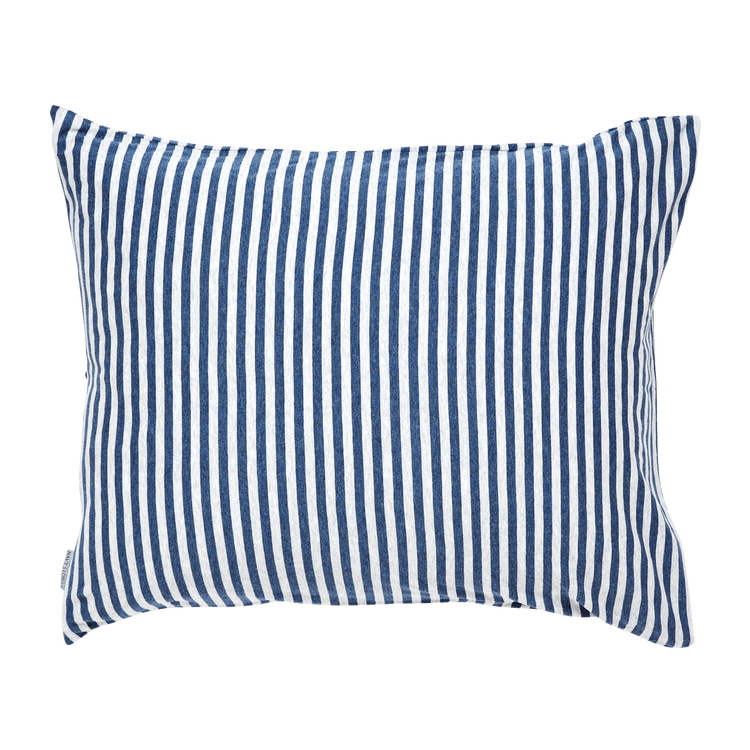 Marbäck - Pillowcase - Navy Stripe