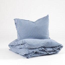 Marbäck – Bedset – Navy Stripe