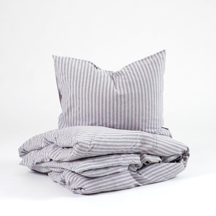 Marbäck - Pillowcase - Pink stripe