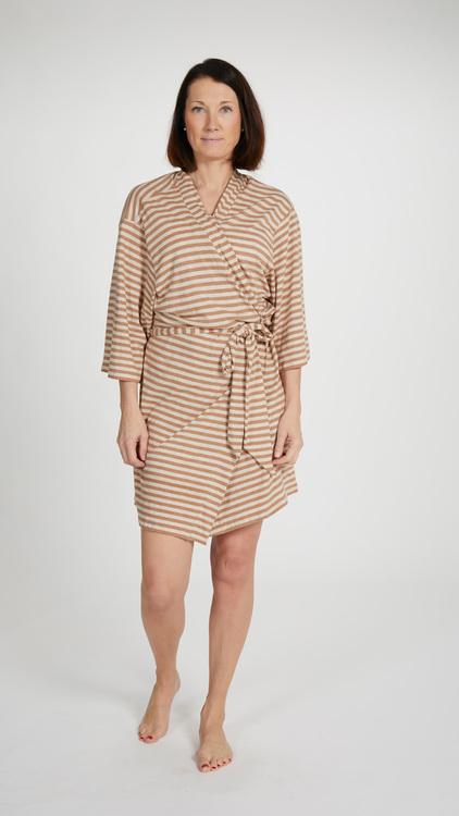 Marbäck - Kimono - Brun/beige rand