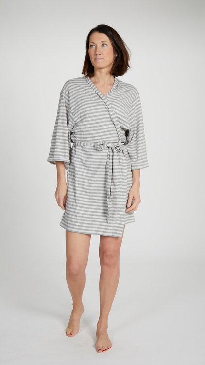 Marbäck - Kimono - Grå rand
