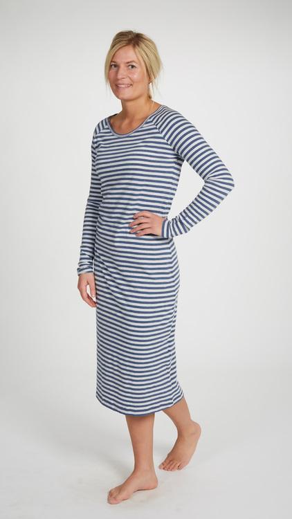 Marbäck - Nightgown - Navy Stripe