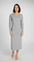 Marbäck - Nightgown - Grey Melange