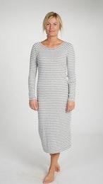 Marbäck - Nightgown - Grey Stripe