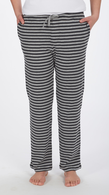 Marbäck - Pyjamasbyxa - Antracit/ grå rand