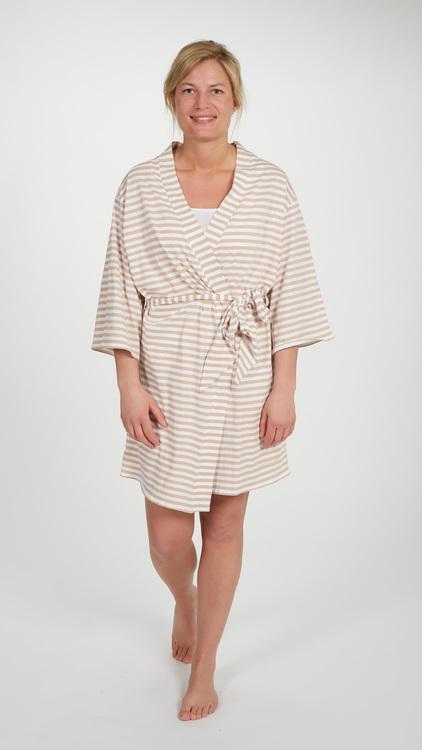 Marbäck - Kimono - Cappuccino/ vit rand