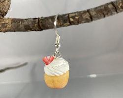 Cupcake med jordgubbe