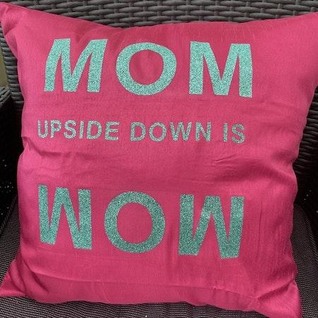Kuddfodral rosa Mom