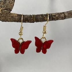 Fjärilar röd