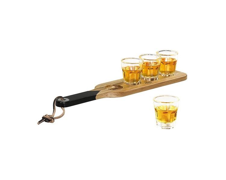 Shotglas med serveringsbricka