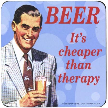 Glasunderlägg Beer is cheaper