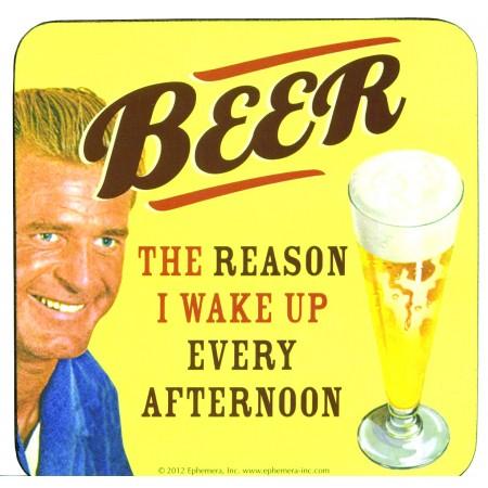 GLASUNDERLÄGG BEER, THE REASON