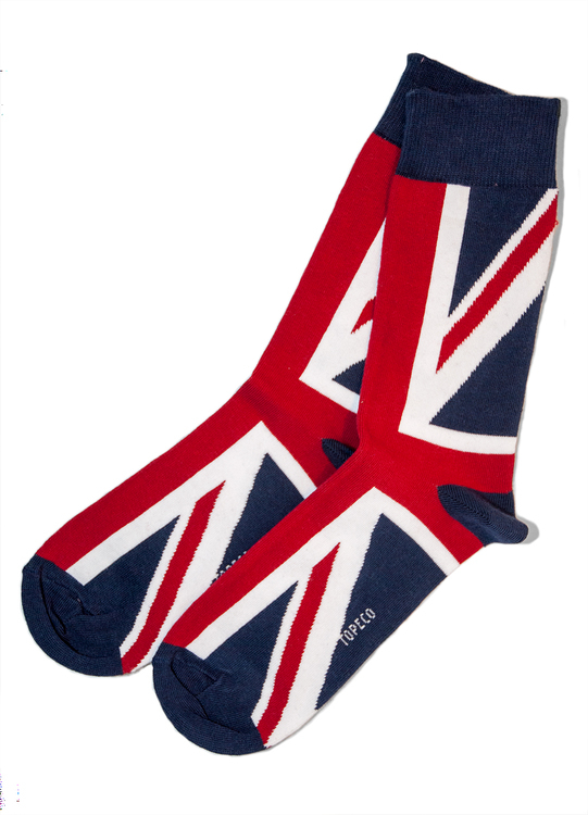 Strumpa union jack BIG ZIZE 45-47