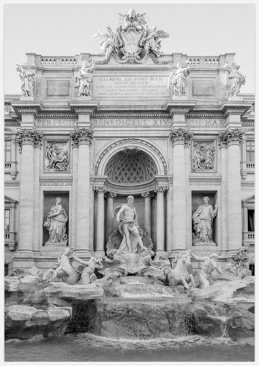 Fontana di Trevi black & white