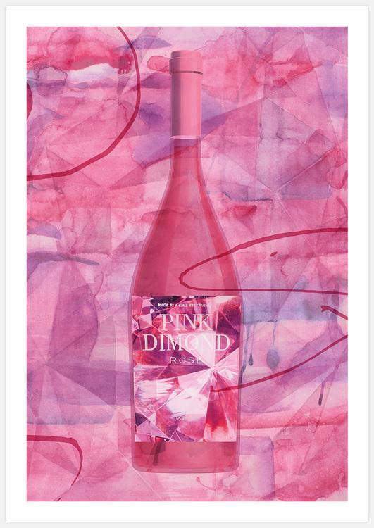Rosé Wine Art