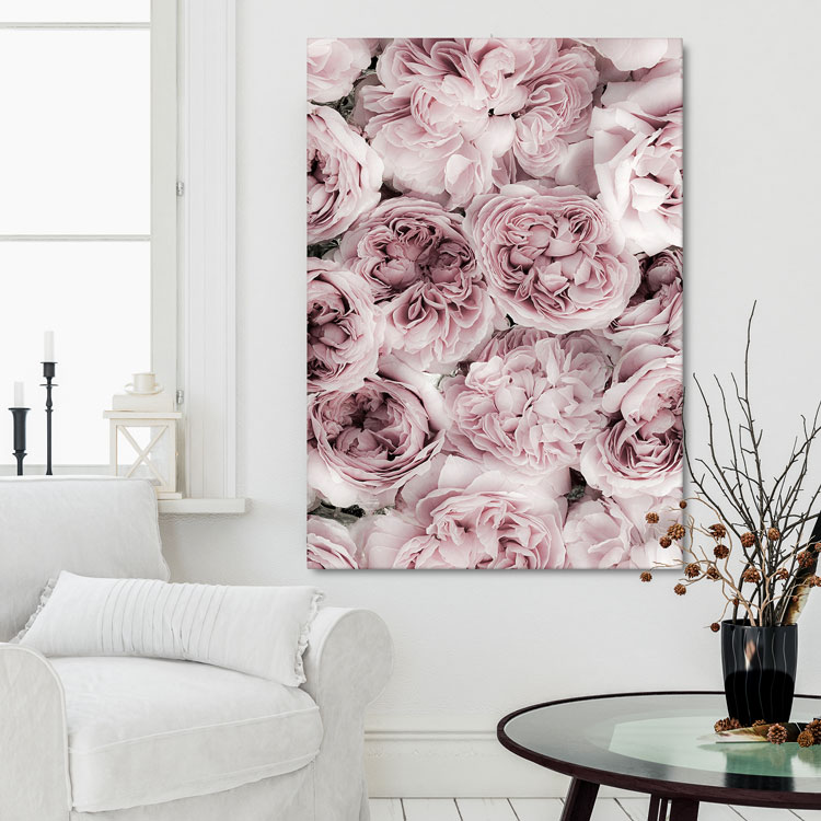 Pink Rose Bed Canvas