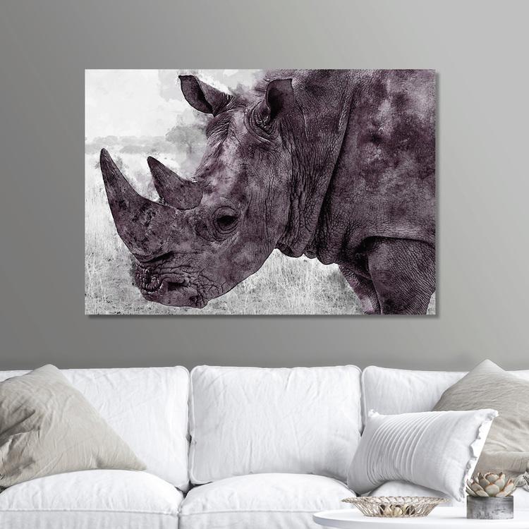 Rhinoceros Paint Canvas