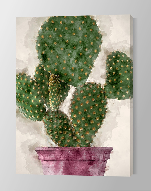 Cactus Paint Canvas