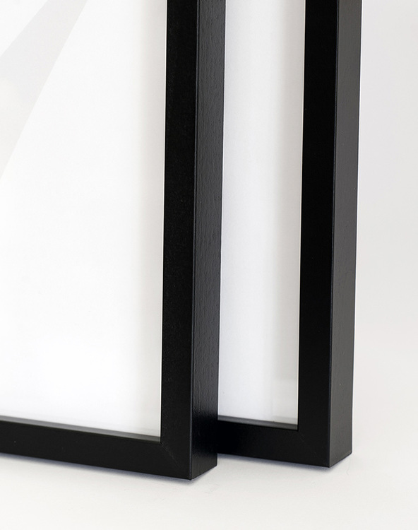 Black wood picture frame 50x70 cm – 20x28 in – 12x22 mm