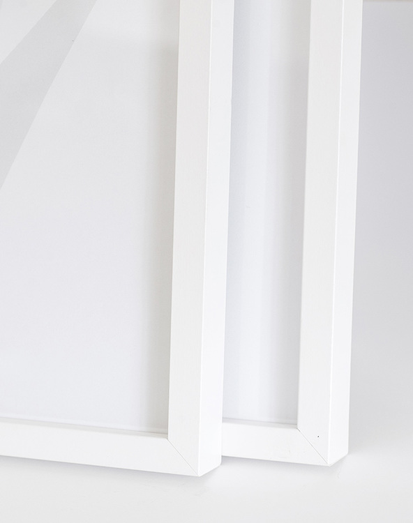 White wood picture frame 21x30 cm – 8x12 in – 12x22 mm