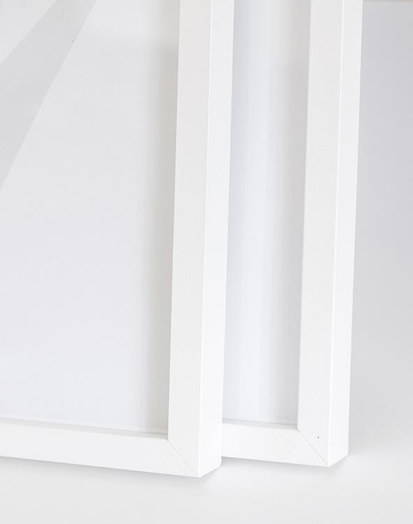 White wood frame 30x40 cm – 12x16 in – 12x22 mm