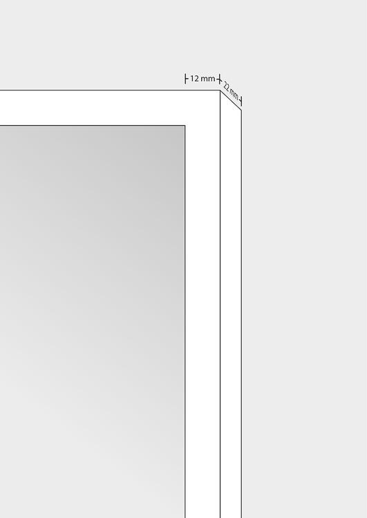 White wood frame 40x50 cm – 16x20 in – 12x22 mm