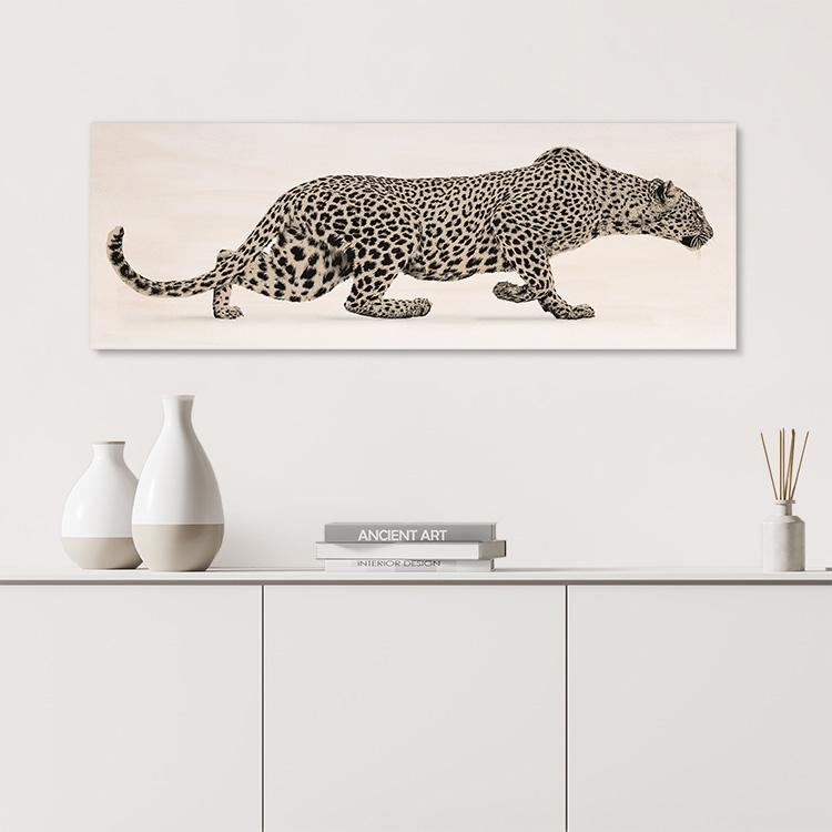 Sneaking Leopard Canvas