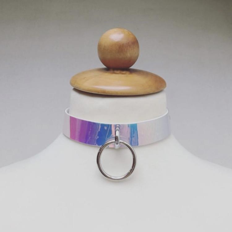 Choker Rosa/Shine med Ring