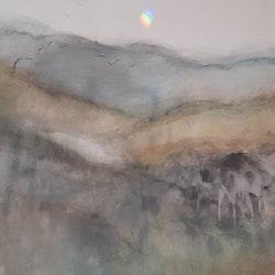 """Originalmålning """"Vandring över Pyrenéerna"""""""