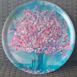 """Rund bricka """"Japanskt körsbärsträd"""""""