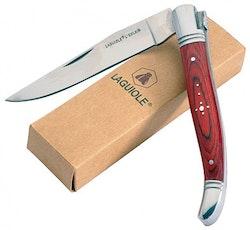 Laguiole fällbara grillknivar 10pack i olika färger ink. väska [40268585]