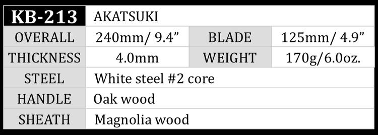 Kanetsune AKATSUKI 13cm