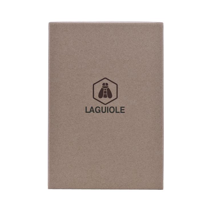 Laguiole Stekkniv, räfflad egg, svart trähandtag, 6st - (40268422)