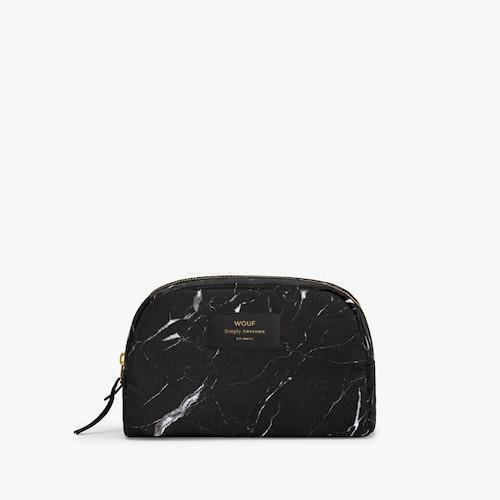 Black Marble Makeup Bag