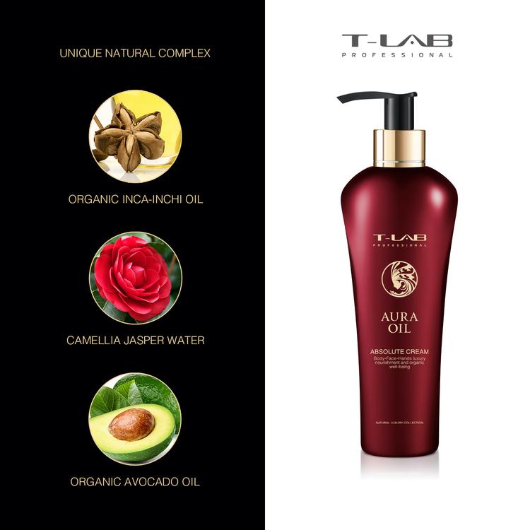 T-LAB Aura Oil Absolute Body Cream 300 ml
