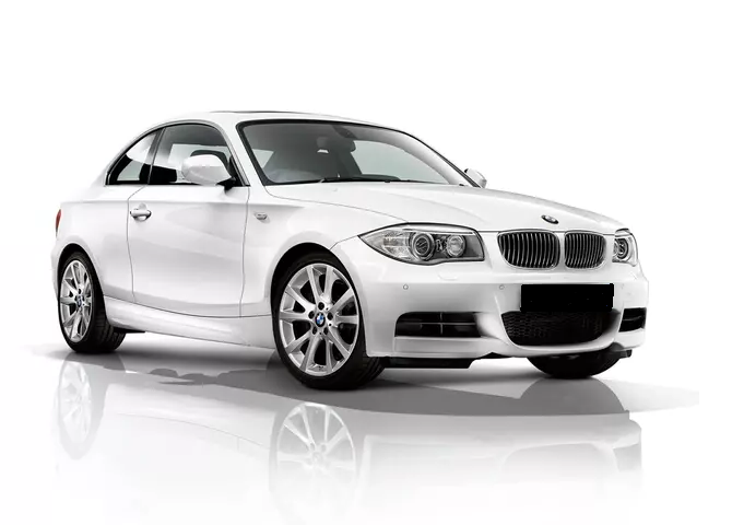 Auto raamfolie voor de BMW 1-serie coupé.