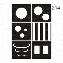 214 stencil