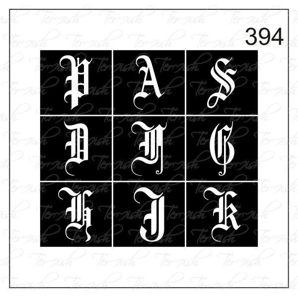 394 stencil