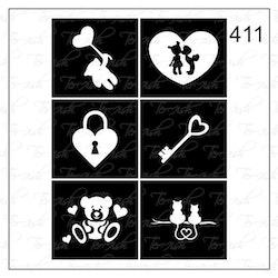 411 stencil