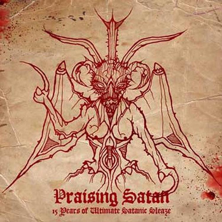 Heretic - Praising Satan - 15 Years Of Ultimate Satanic Sleaze (LP)